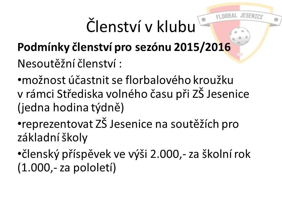 Družstva Přihlášená družstva pro sezónu 2015/2016 Přípravka 3 + 1 – roč.