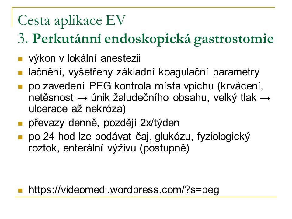 Cesta aplikace EV 3.