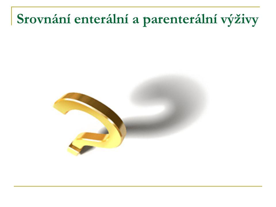 Srovnání enterální a parenterální výživy