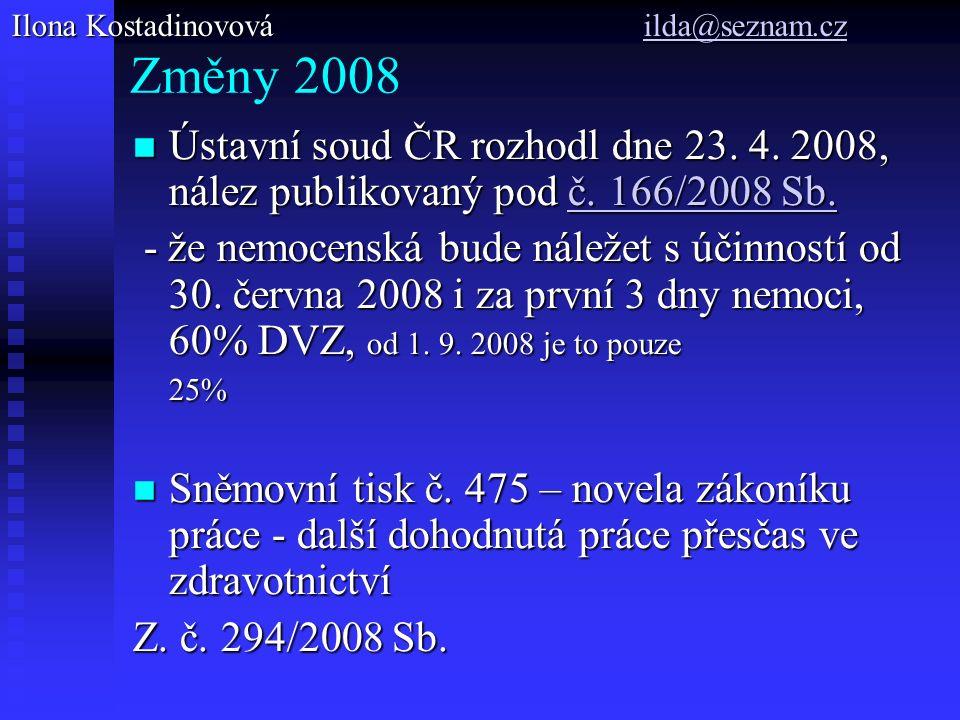 Změny 2008 Ústavní soud ČR rozhodl dne 23. 4. 2008, nález publikovaný pod č.