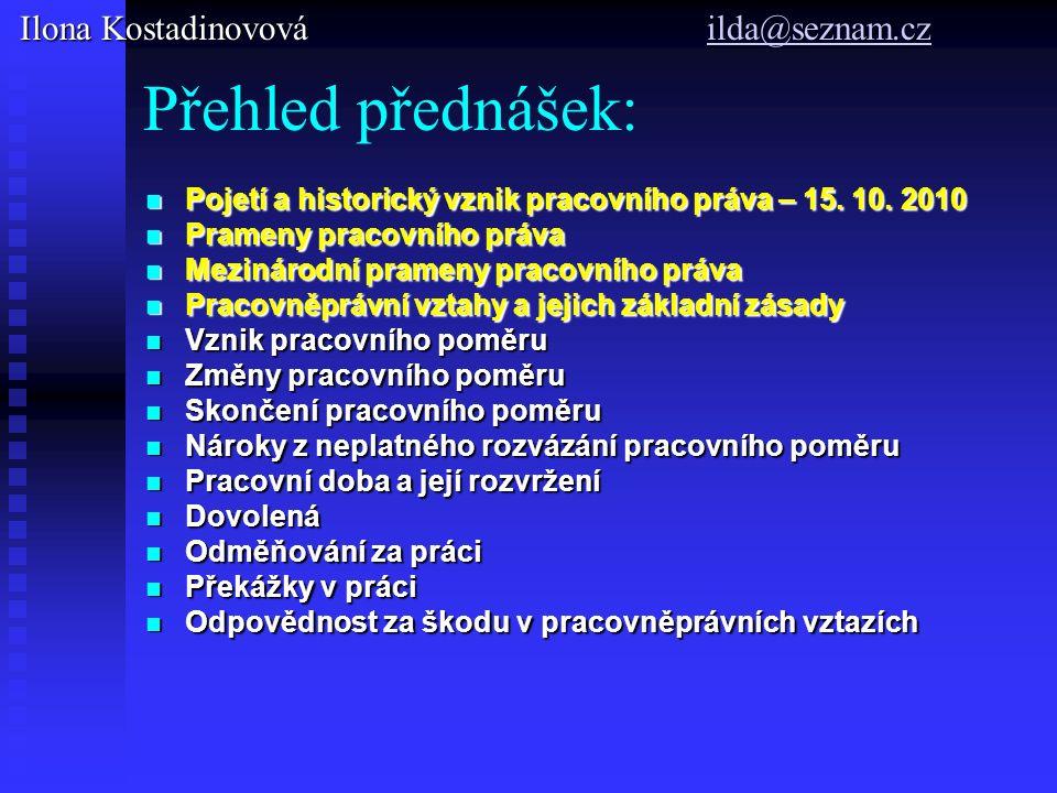 Doporučená literatura nová: Pracovní právo a právo sociálního zabezpčení, Spirit a kol., Nakladatelství a vydavatelství Aleš Čeněk, s.