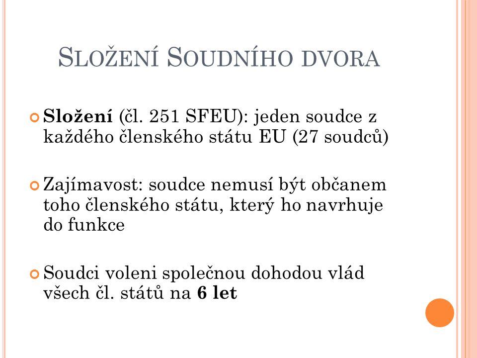 S LOŽENÍ S OUDNÍHO DVORA Složení (čl.