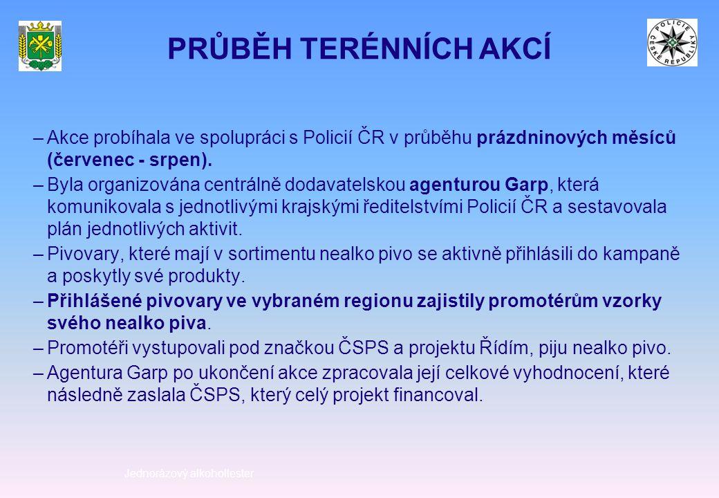–Akce probíhala ve spolupráci s Policií ČR v průběhu prázdninových měsíců (červenec - srpen).