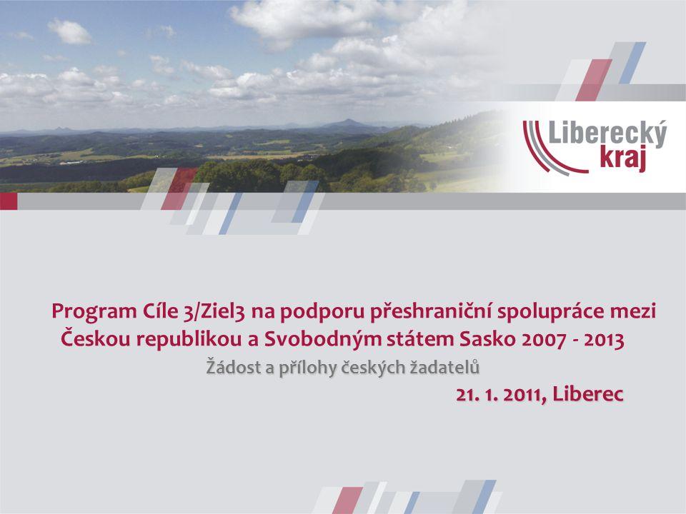 Žádost a přílohy českých žadatelů 21. 1.