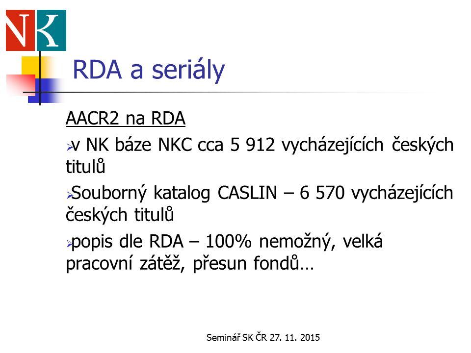 Seminář SK ČR 27.11.