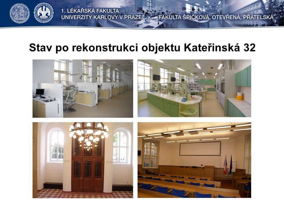 Stav po rekonstrukci objektu Kateřinská 32