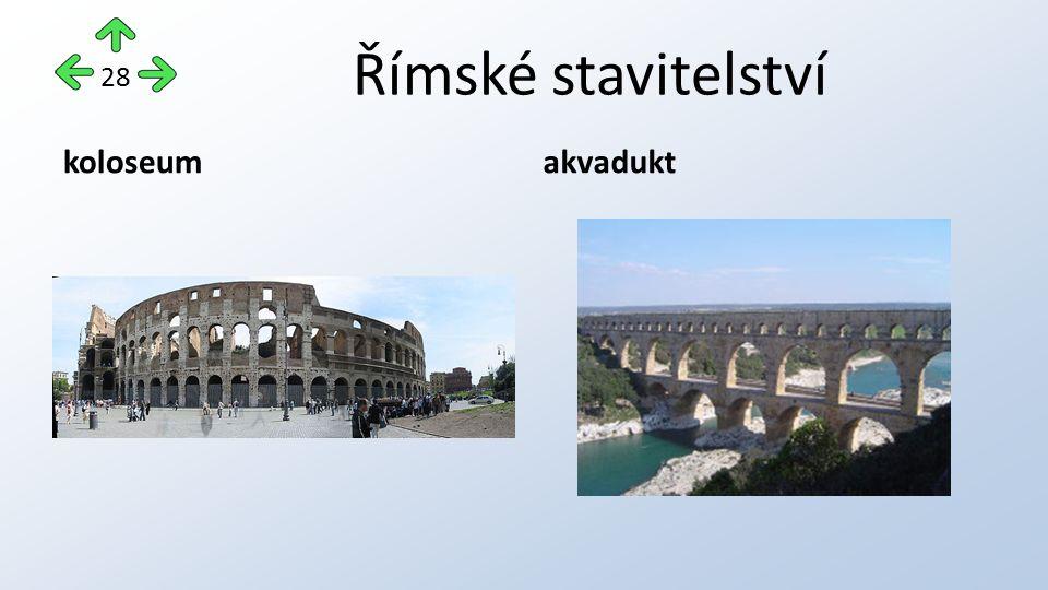 Římské stavitelství koloseumakvadukt 28