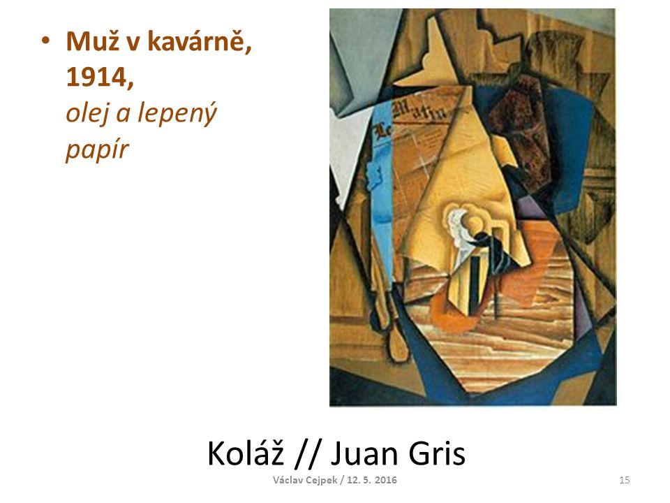 Koláž // Juan Gris Muž v kavárně, 1914, olej a lepený papír Václav Cejpek / 12. 5. 201615