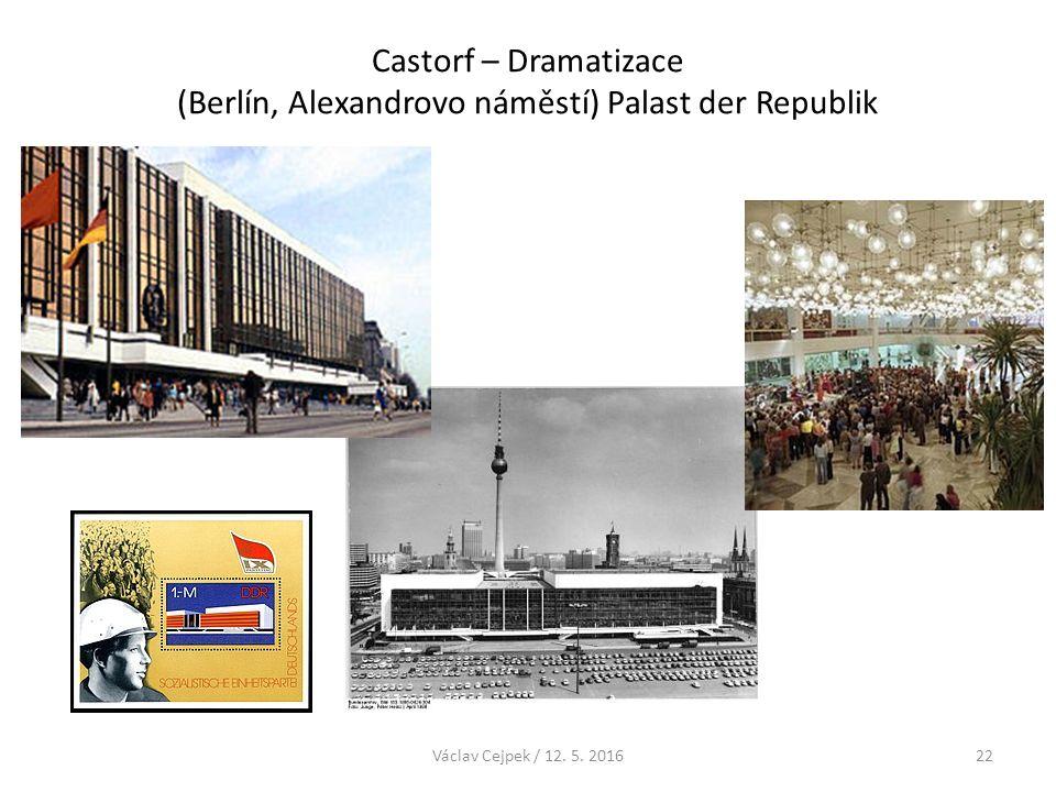Castorf – Dramatizace (Berlín, Alexandrovo náměstí) Palast der Republik Václav Cejpek / 12. 5. 201622