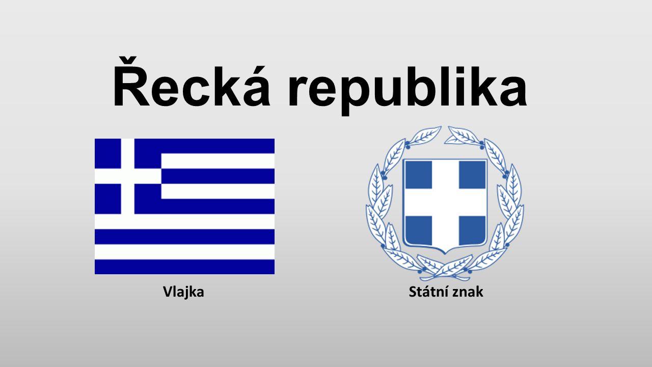 Řecká republika Vlajka Státní znak