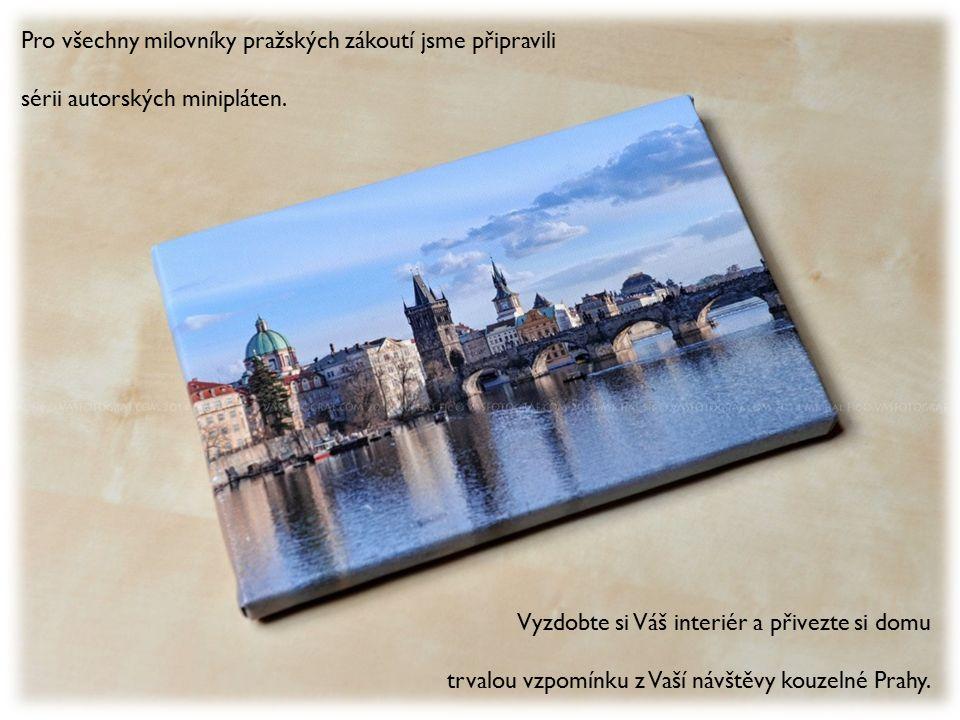 Pro všechny milovníky pražských zákoutí jsme připravili sérii autorských minipláten.