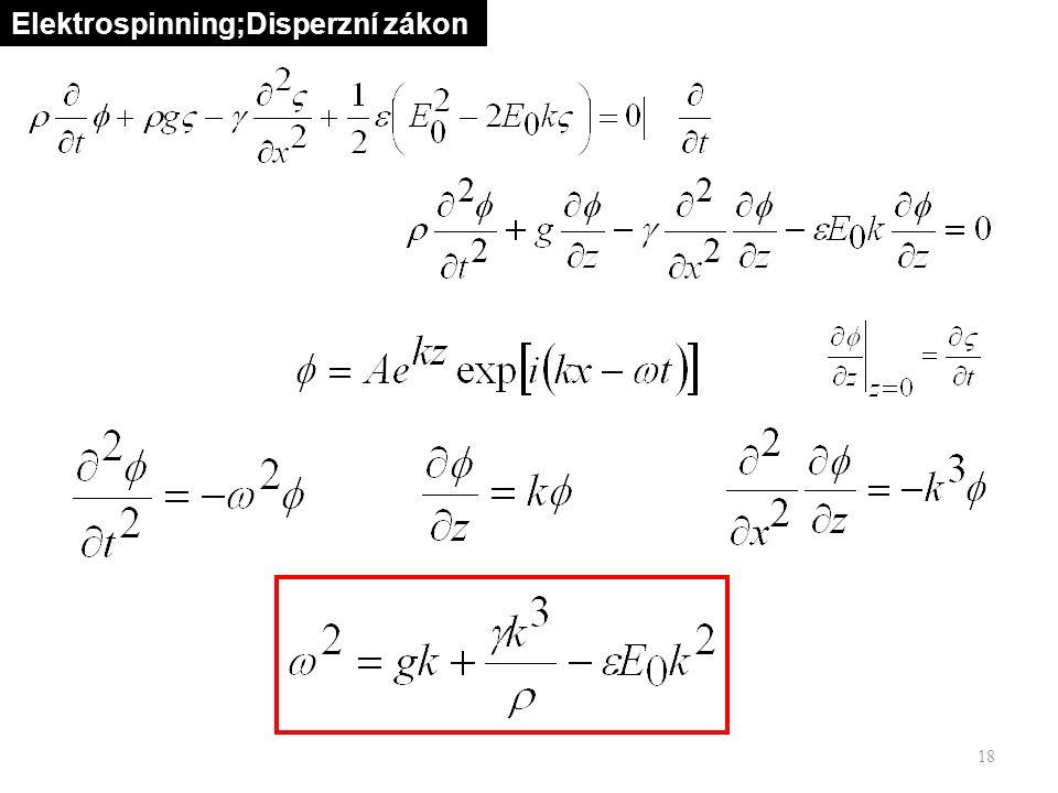 18 Elektrospinning;Disperzní zákon