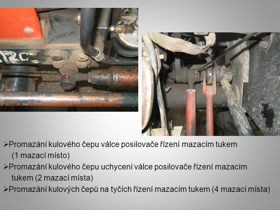  Demontáž magnetické filtru olejového čerpadla hydrauliky  Vyčištění magnetického filtru  Zpětná montáž magnetického filtru  Pozor při demontáži a zpětné montáži – částečný únik oleje  Pozor při zpětné montáži – správné uchycení závitu