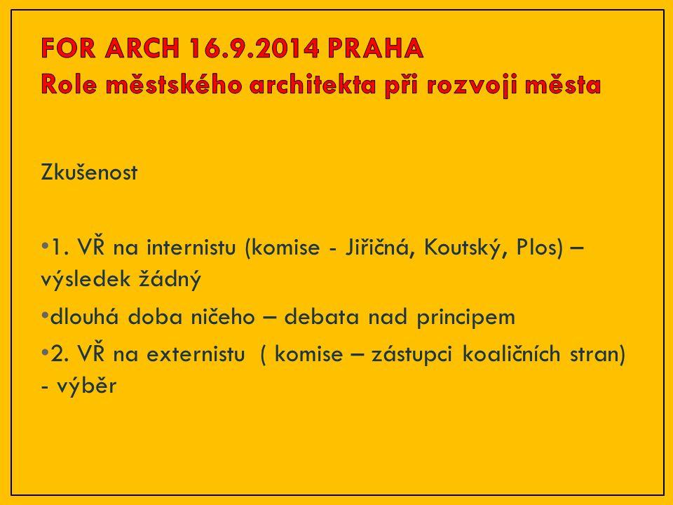 Architektonické soutěže Význam architektonických soutěží důkladná příprava zadání možnost vybrat si návrh kvalita návrhů odborné poradenství