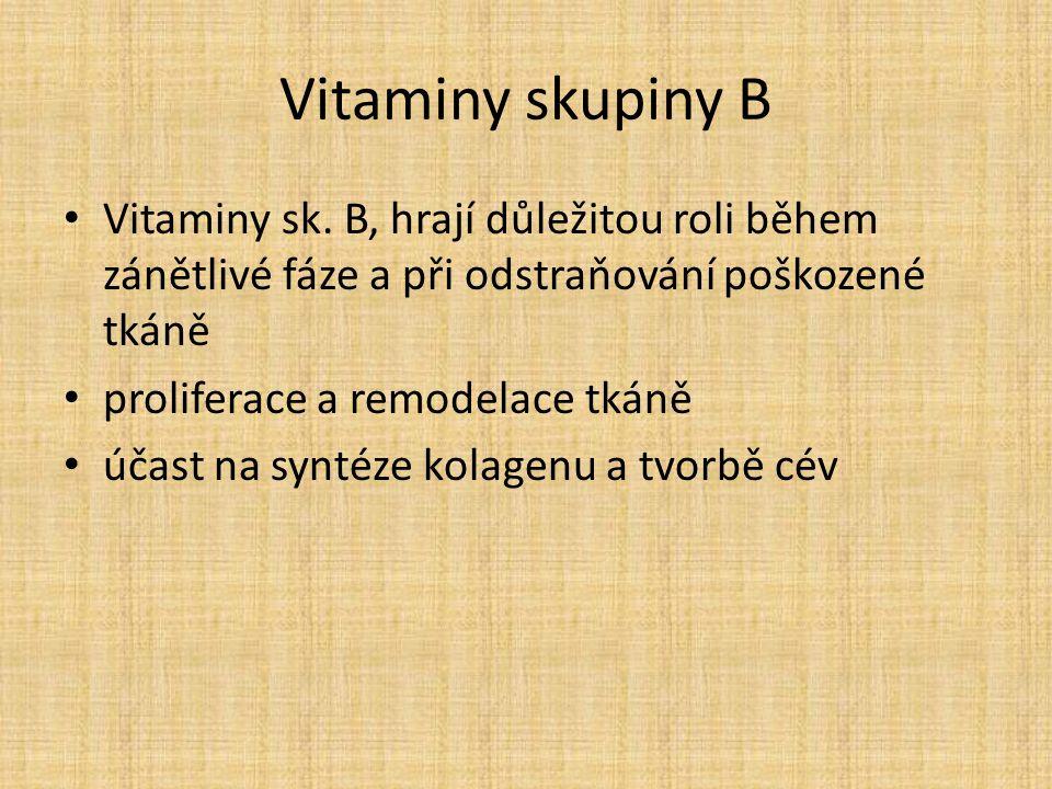 Vitaminy skupiny B Vitaminy sk.
