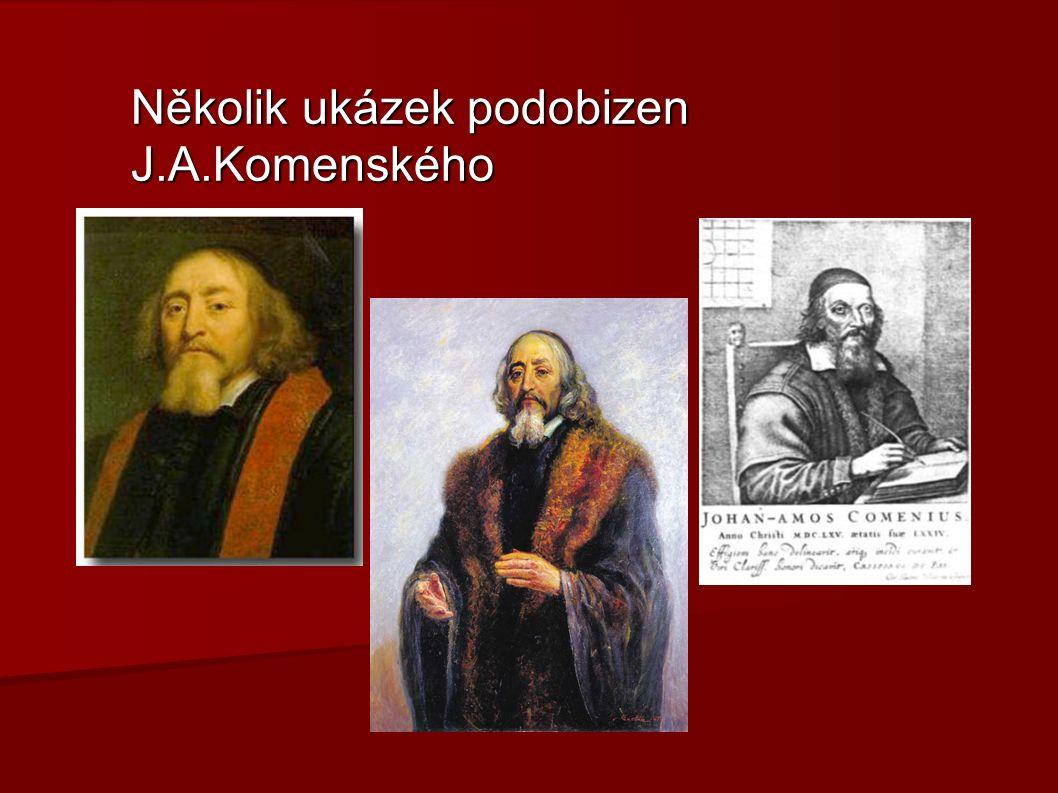 Několik ukázek podobizen J.A.Komenského