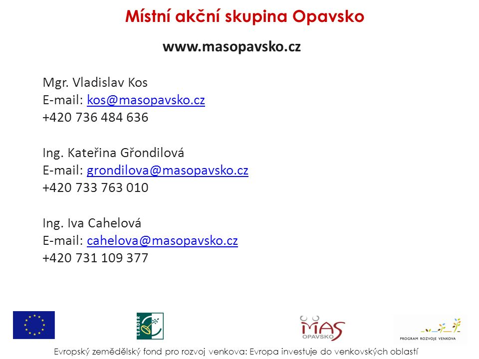 www.masopavsko.cz Mgr.