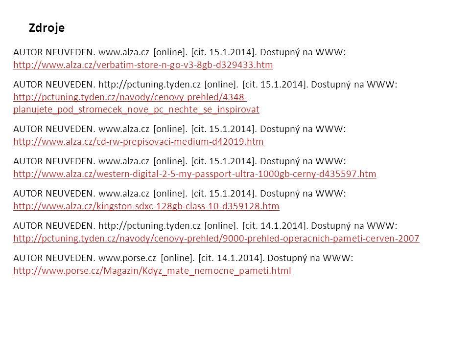 AUTOR NEUVEDEN. http://pctuning.tyden.cz [online]. [cit. 15.1.2014]. Dostupný na WWW: http://pctuning.tyden.cz/navody/cenovy-prehled/4348- planujete_p
