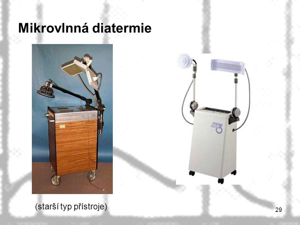 29 Mikrovlnná diatermie (starší typ přístroje)