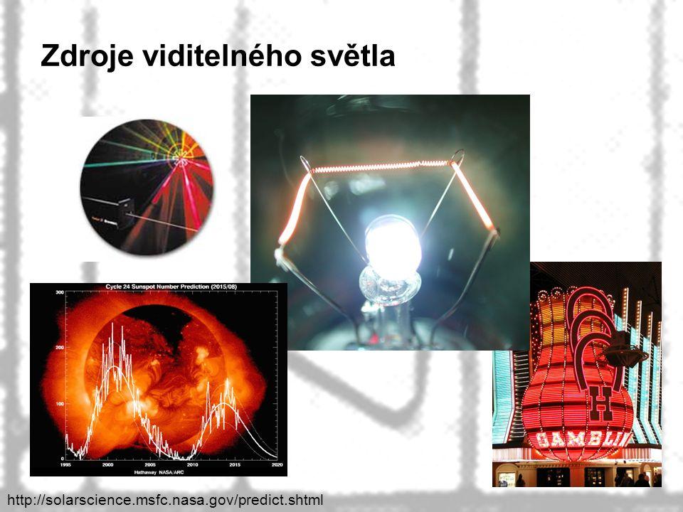 40 Zdroje viditelného světla http://solarscience.msfc.nasa.gov/predict.shtml