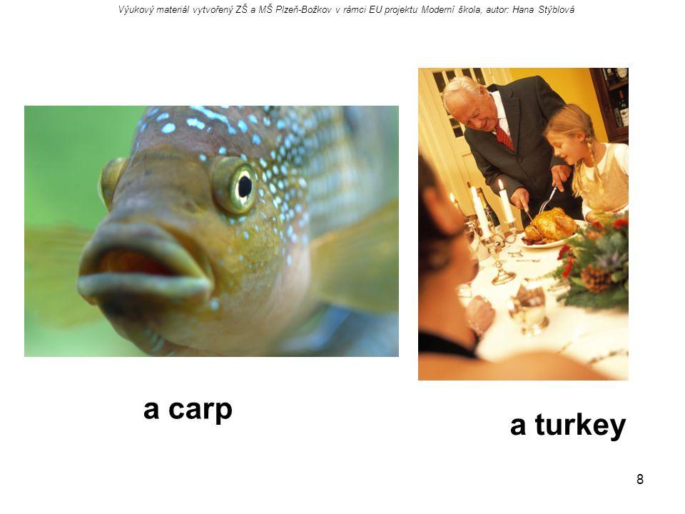 8 a carp a turkey Výukový materiál vytvořený ZŠ a MŠ Plzeň-Božkov v rámci EU projektu Moderní škola, autor: Hana Stýblová