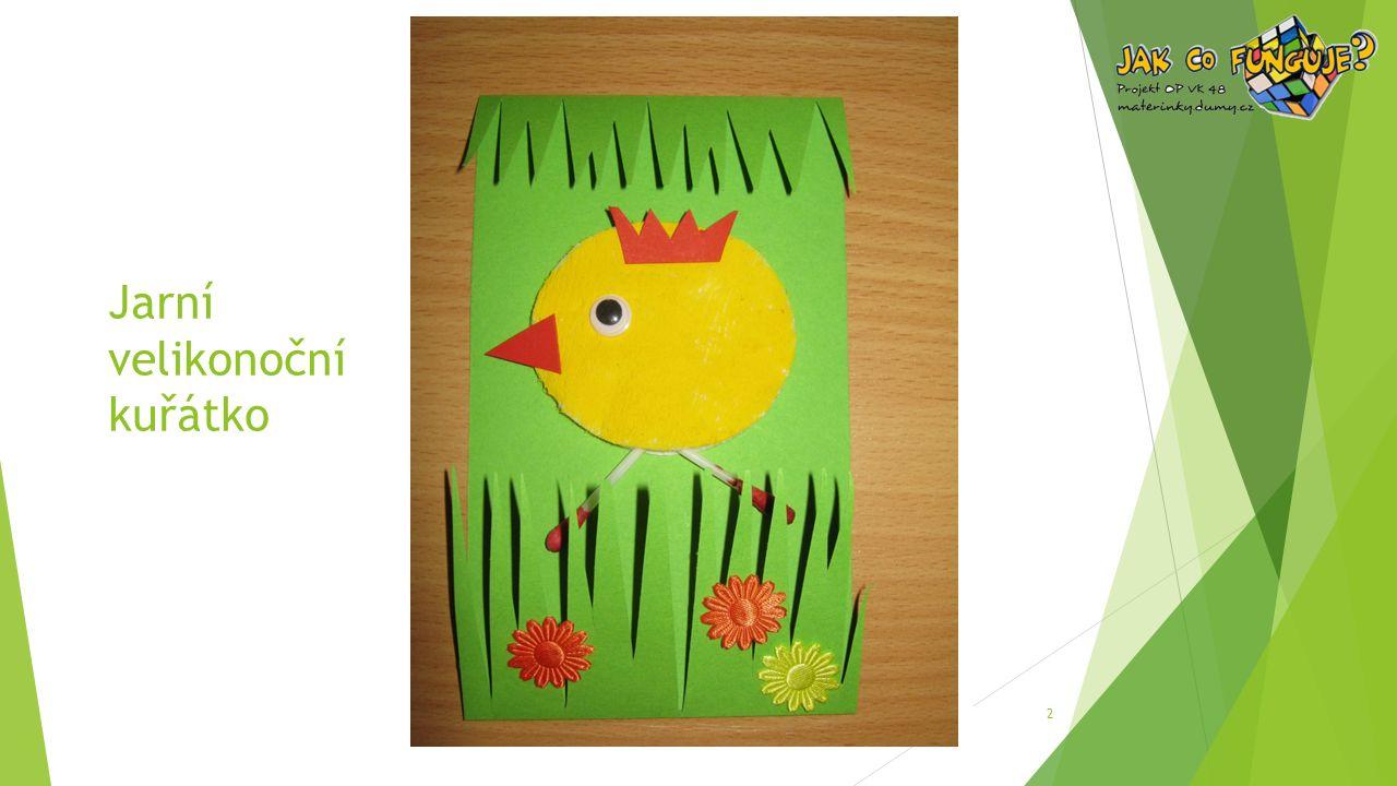 Jarní velikonoční kuřátko 2