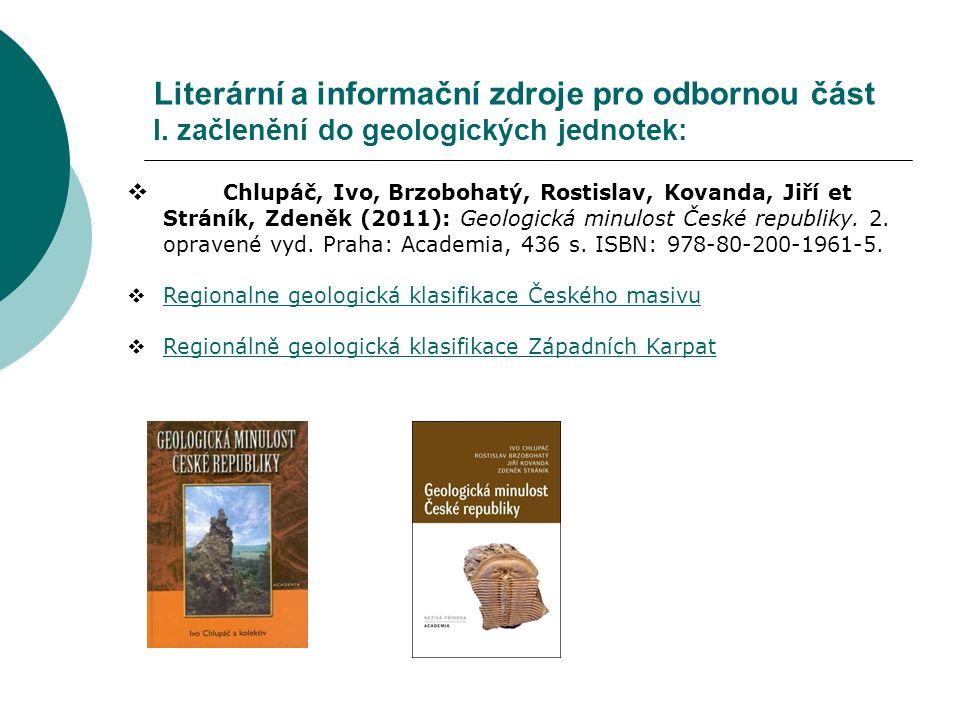 Vávra, Václav et Štelcl, Jindřich (2014): Významné geologické lokality Moravy a Slezska.