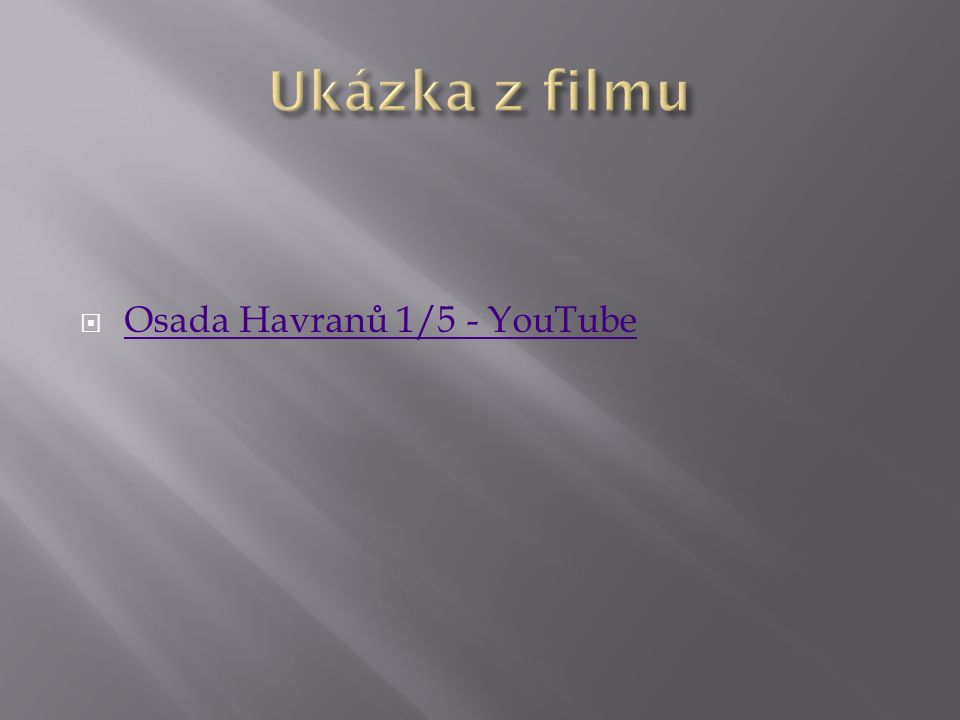  Osada Havranů 1/5 - YouTube Osada Havranů 1/5 - YouTube