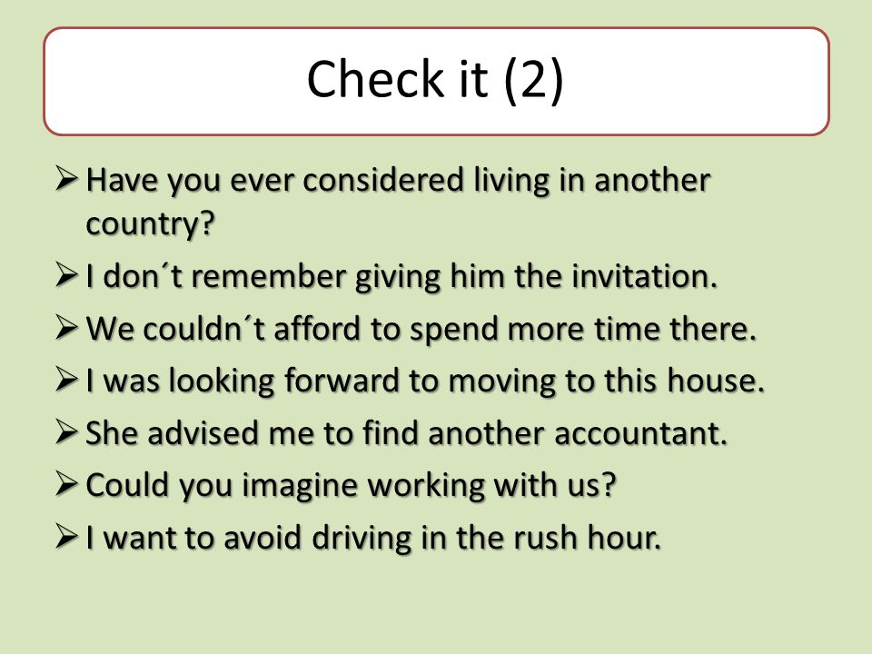 Check it (2)  Have you ever considered living in another country.