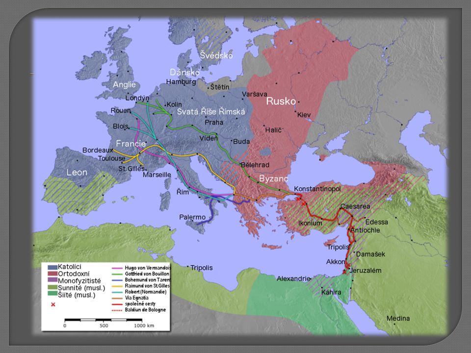  Dobytím Antiochie poprvé zasáhli do mezinárodních vztahů na Blízkém východě  Narušení jednoty islámského světa 9.