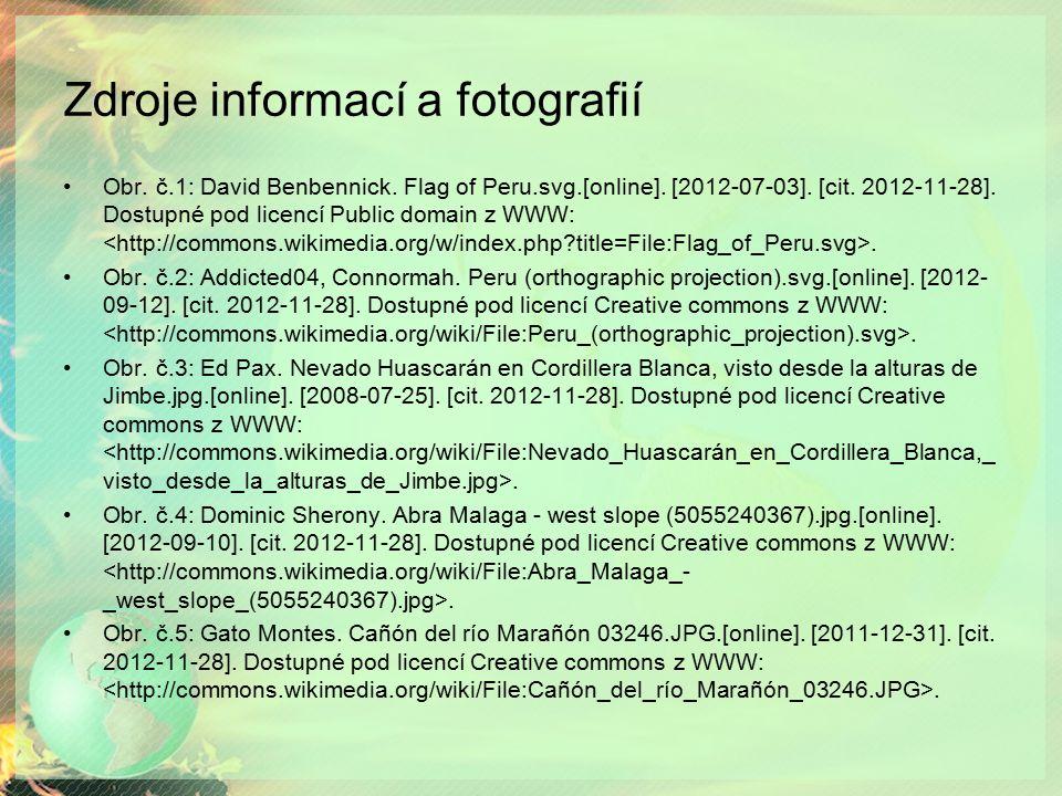 Zdroje informací a fotografií Obr.č.1: David Benbennick.