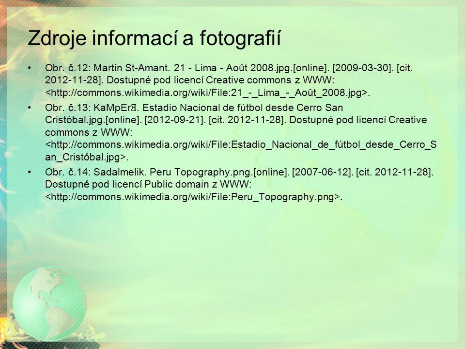 Zdroje informací a fotografií Obr.č.12: Martin St-Amant.