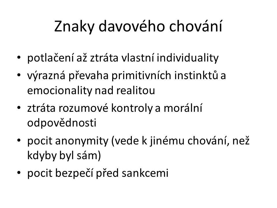 Klasifikace davu ( podle povahy jednání – R.W.