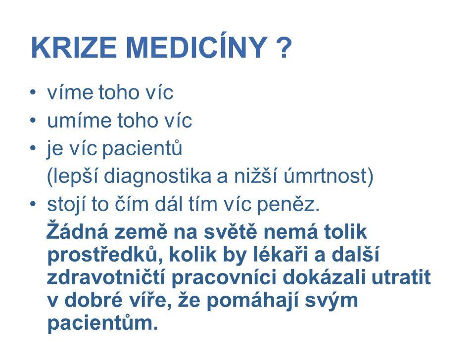 KRIZE MEDICÍNY .