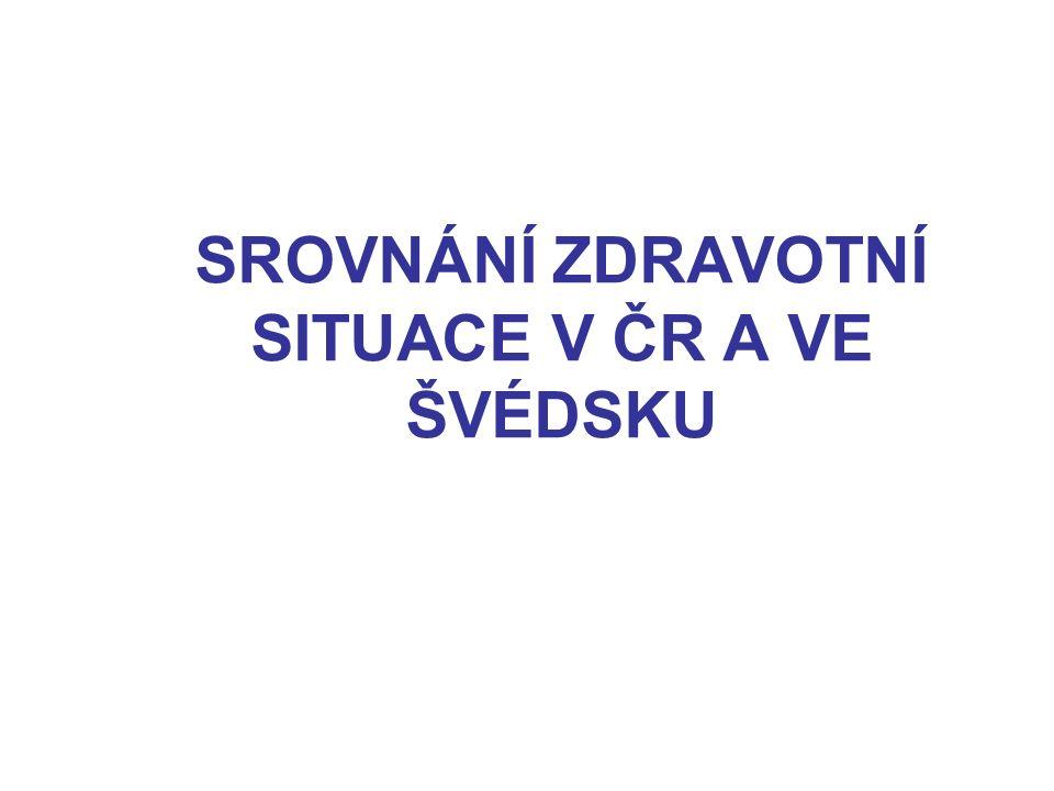 SROVNÁNÍ ZDRAVOTNÍ SITUACE V ČR A VE ŠVÉDSKU