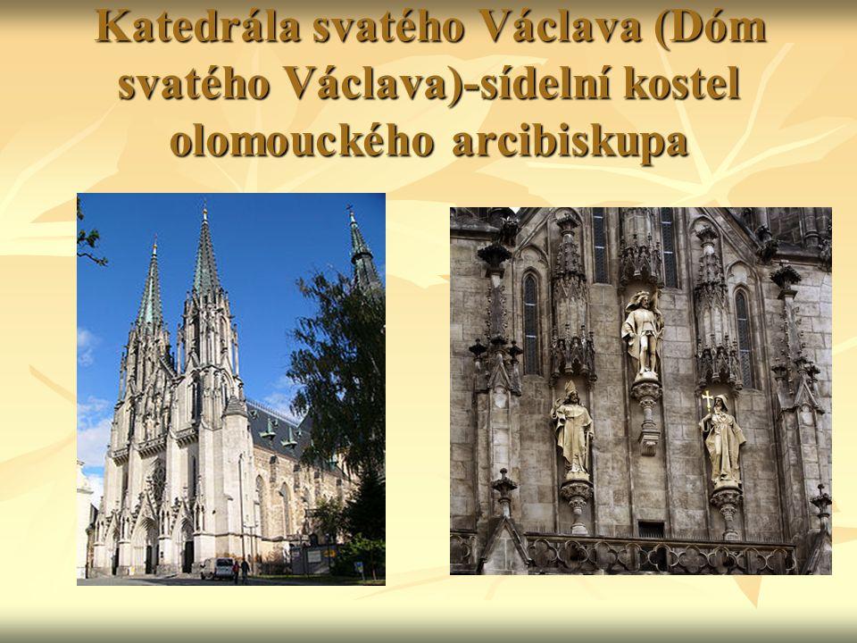 Katedrála svatého Václava (Dóm svatého Václava)-sídelní kostel olomouckého arcibiskupa