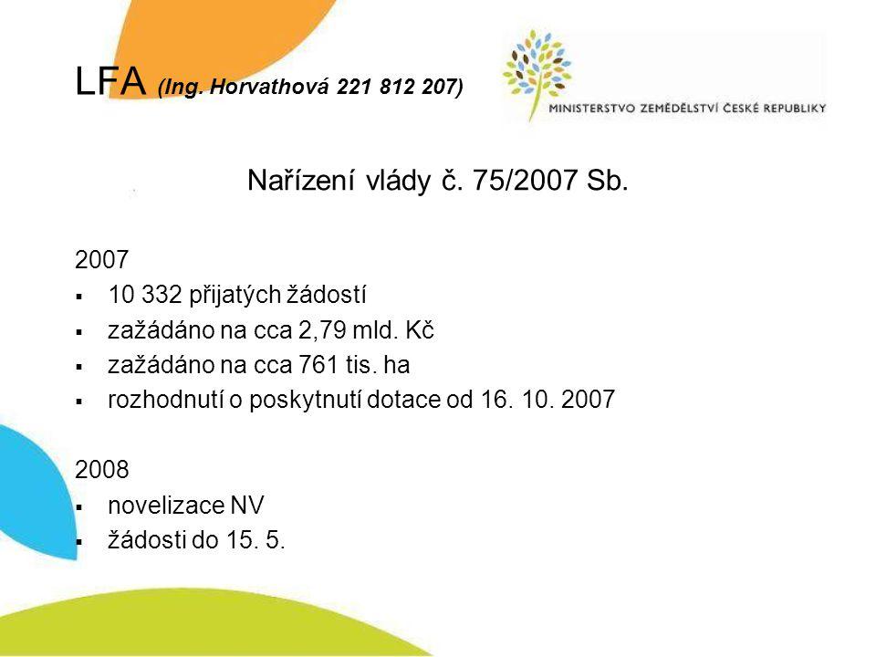Natura 2000 na ZP (Ing.Horvathová 221 812 207) Nařízení vlády č.
