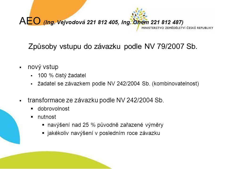 AEO (Ing. Vejvodová 221 812 405, Ing.