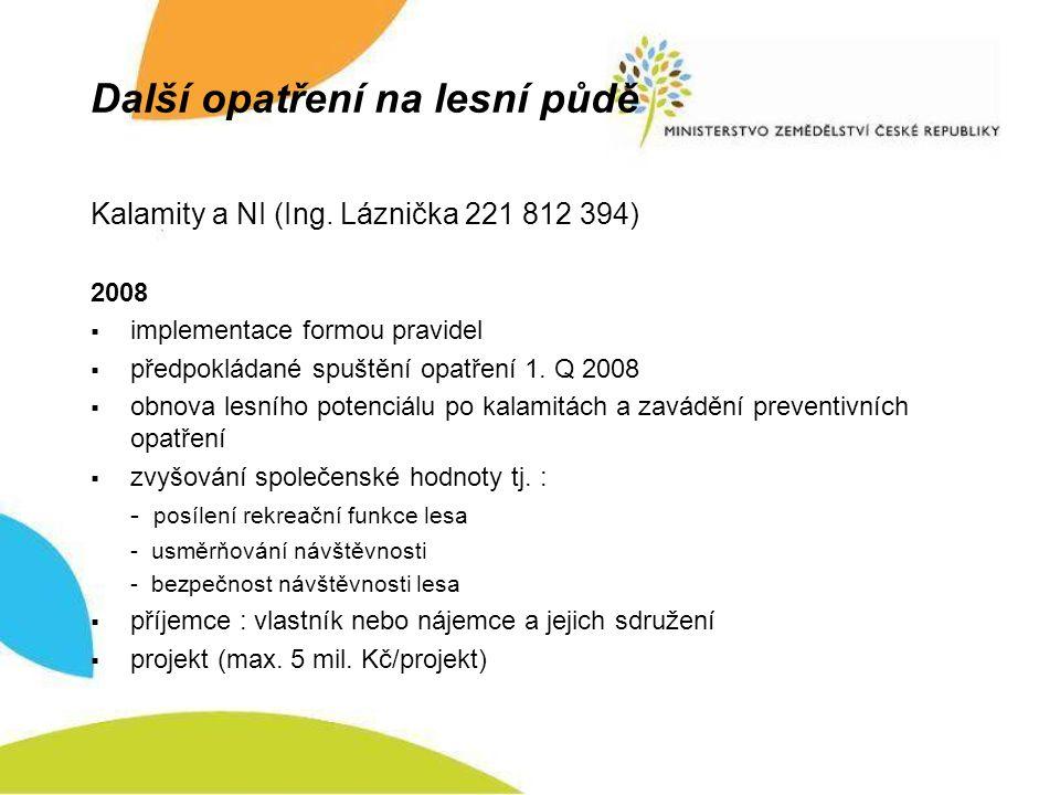 Další opatření na lesní půdě Kalamity a NI (Ing.