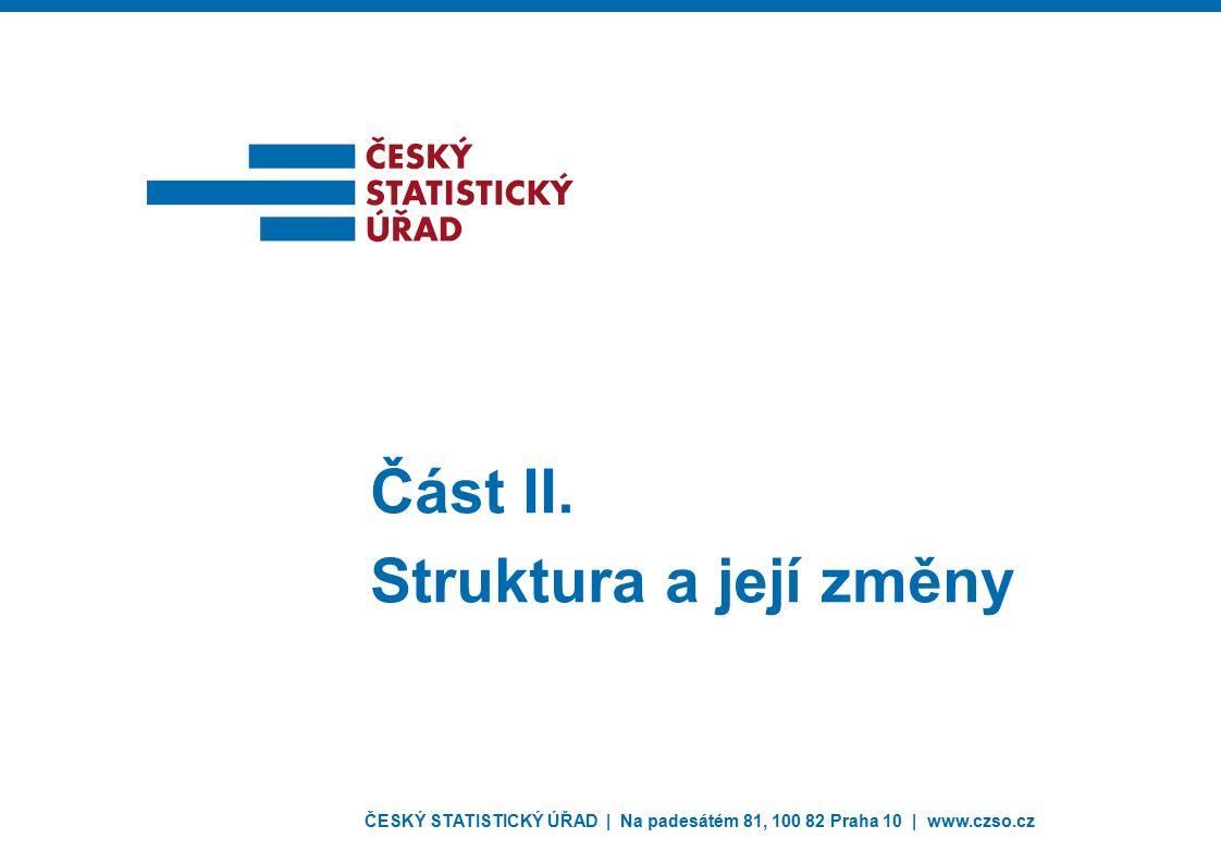 ČESKÝ STATISTICKÝ ÚŘAD | Na padesátém 81, 100 82 Praha 10 | www.czso.cz Část II. Struktura a její změny