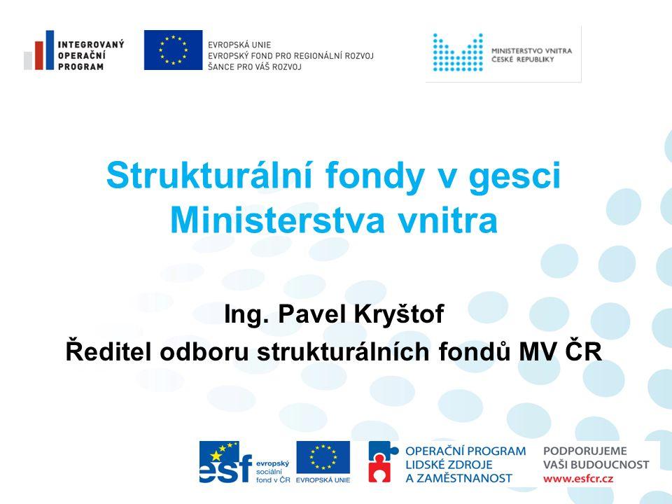 Strukturální fondy v gesci Ministerstva vnitra Ing.