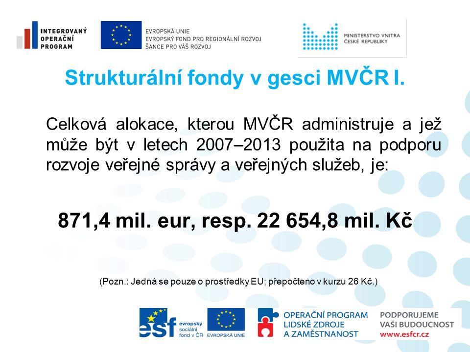 Strukturální fondy v gesci MVČR I.