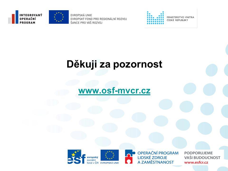 Děkuji za pozornost www.osf-mvcr.cz