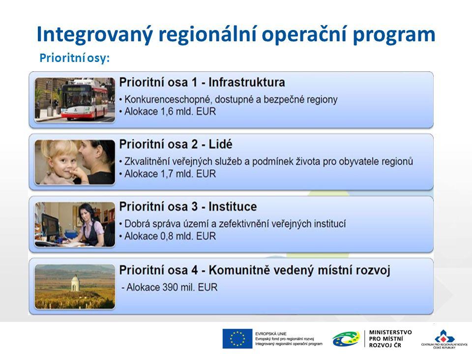 Prioritní osy: Integrovaný regionální operační program