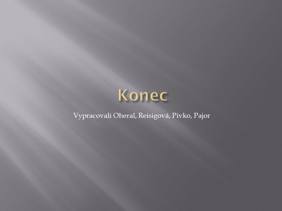 Vypracovali Oheral, Reisigová, Pivko, Pajor