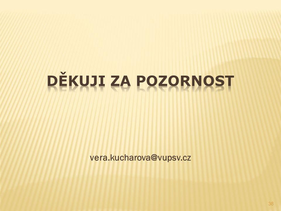 vera.kucharova@vupsv.cz 38