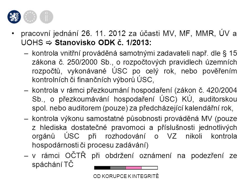 OD KORUPCE K INTEGRITĚ pracovní jednání 26. 11.