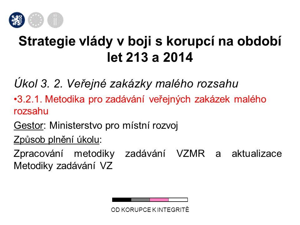 Úkol 3. 2. Veřejné zakázky malého rozsahu 3.2.1.