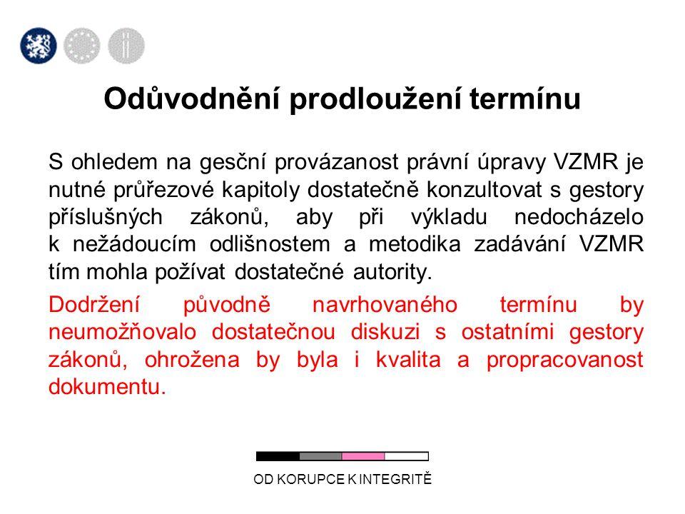 OD KORUPCE K INTEGRITĚ Stav plnění úkolu za 2.Q.2013 Úkol plněn.