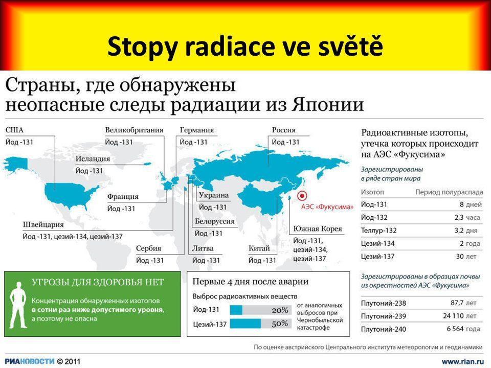 Stopy radiace ve světě